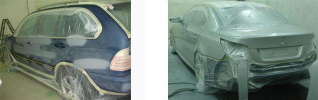 Ejemplos de chapa y pintura