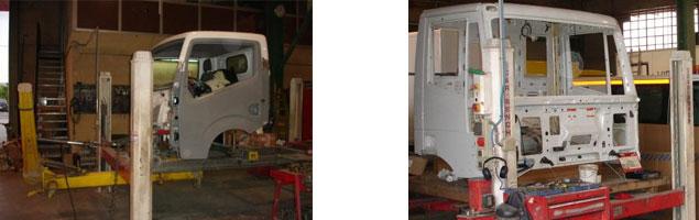 Chapa y pintura para vehículos industriales