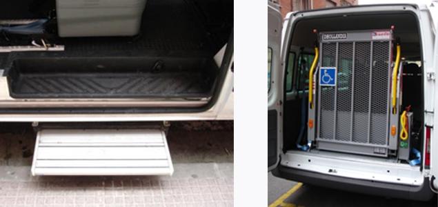 Plataformas para sillas de ruedas